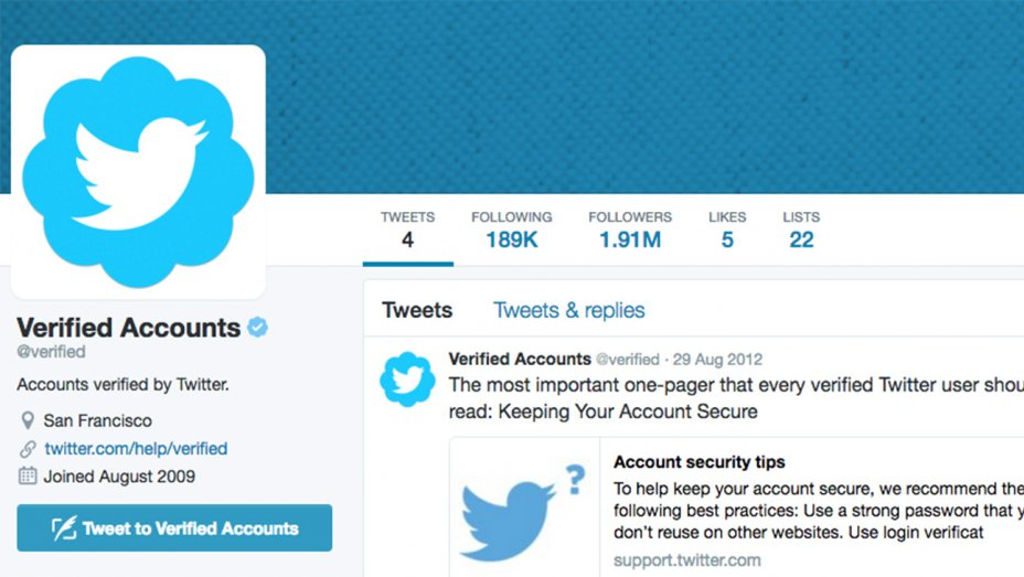 make your account Twitter verified
