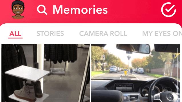 Access of Snapchat Memories