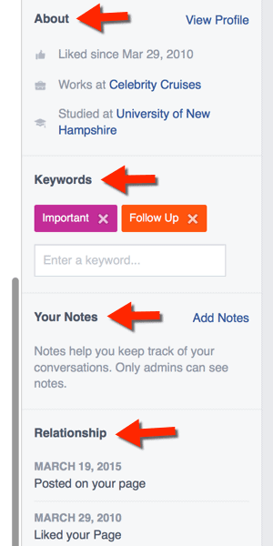 Add Keywords and Notes