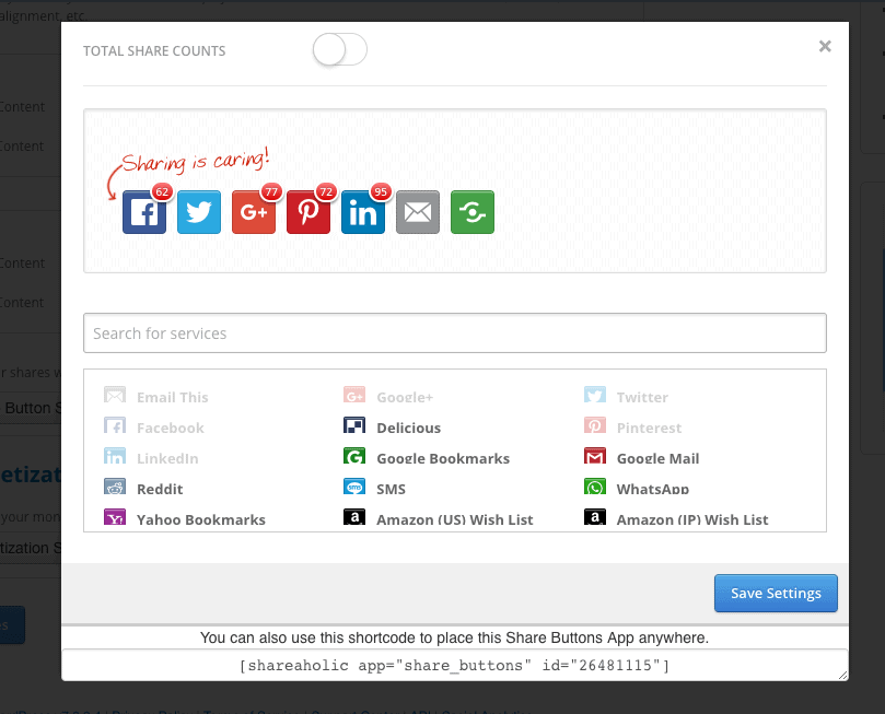 Configure your social media icons