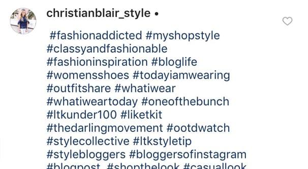 Instagram hahstags