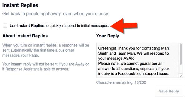 Instant Replies