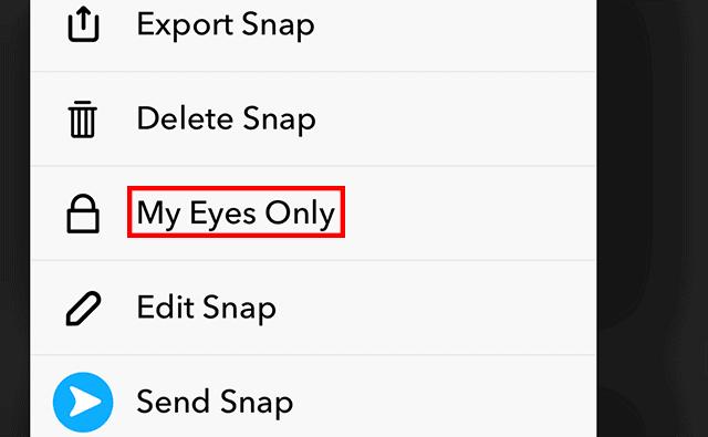My Eyes Only