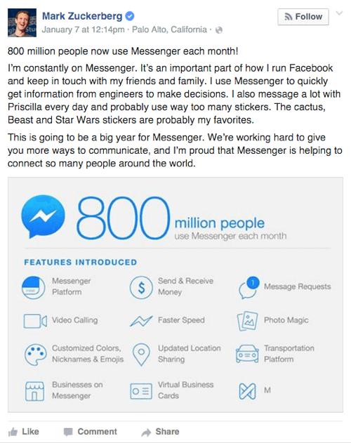 add Messenger box