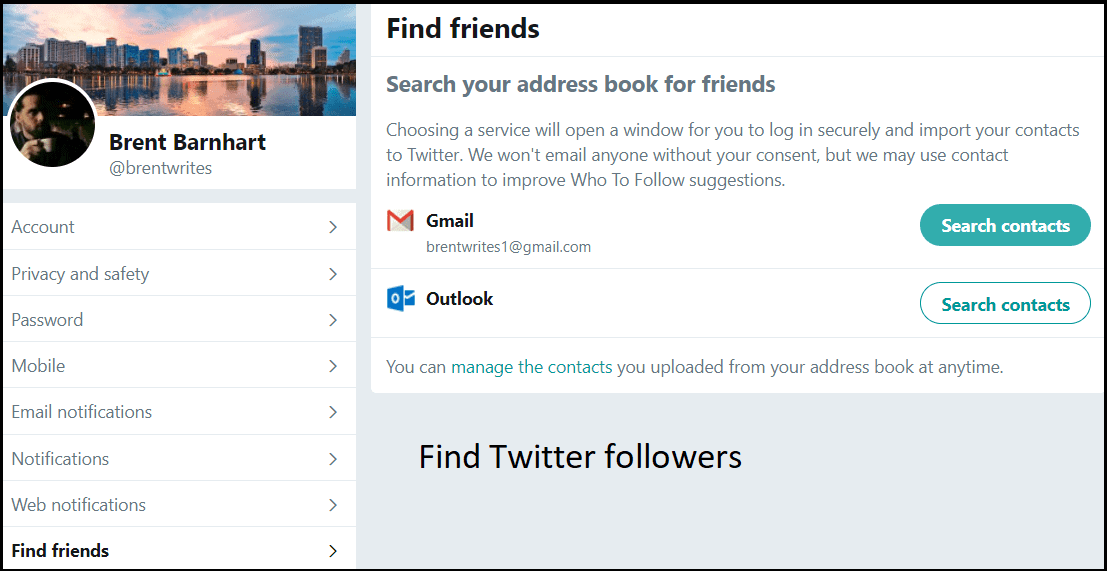 Bring Twitter followers from different social handles