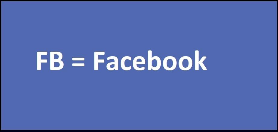FB = Facebook