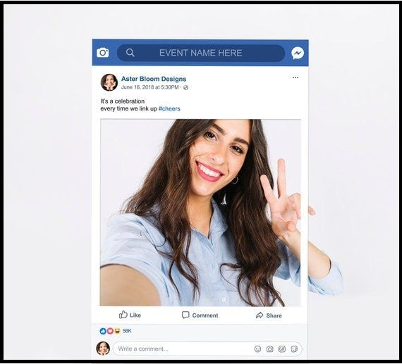 Facebook Story Frame with a Link