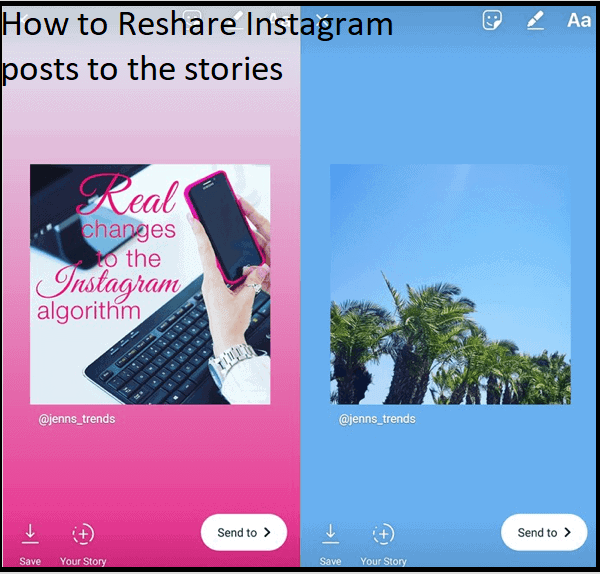 How to Reshare Instagram posts to the stories