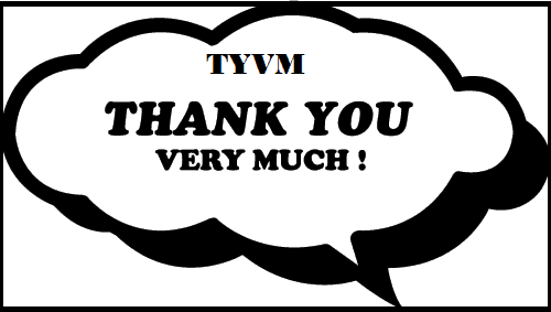 TYVW = Thank you very much