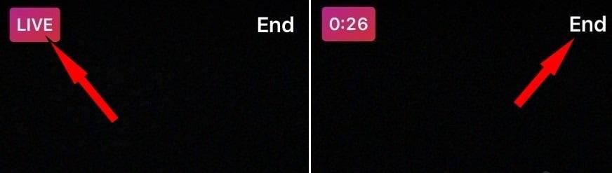 end live instagram video