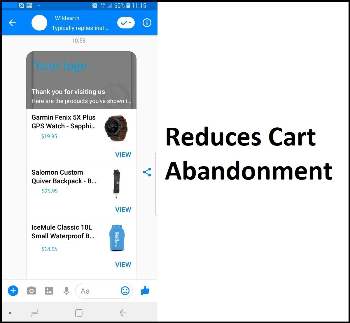 Reduces Cart Abandonment