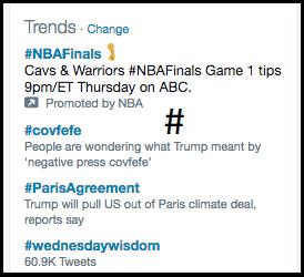 hashtags in Twitter Bio