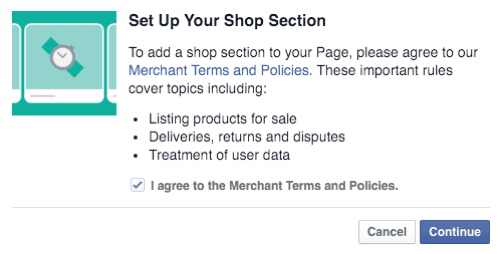 facebook Seller's Terms and Policies