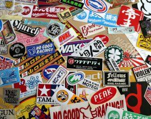 old school sticker marketing