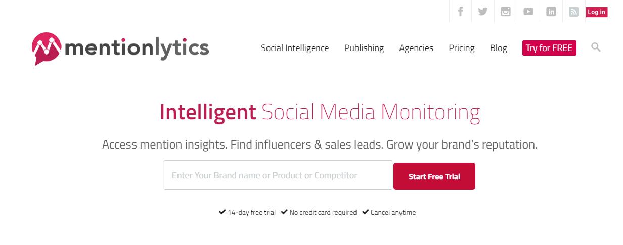 Mentionlytics: free hashtag tracking tools