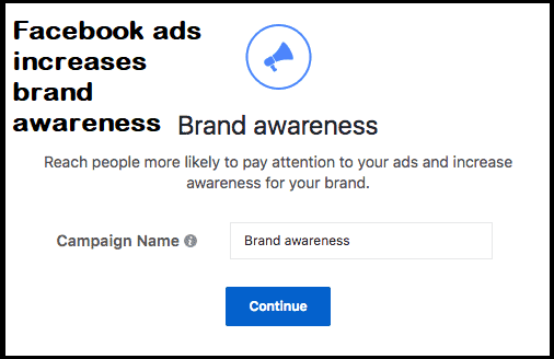 Facebook ads to increase brand awareness