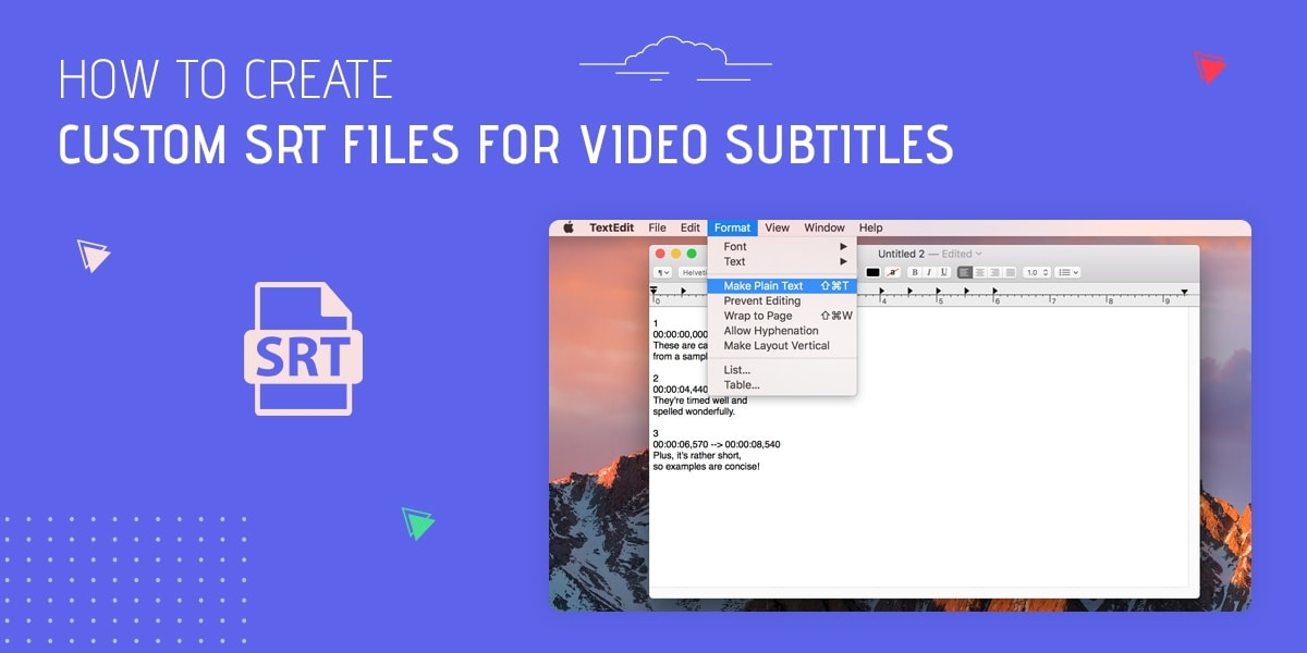 How to Create Custom SRT Files for Video Subtitles