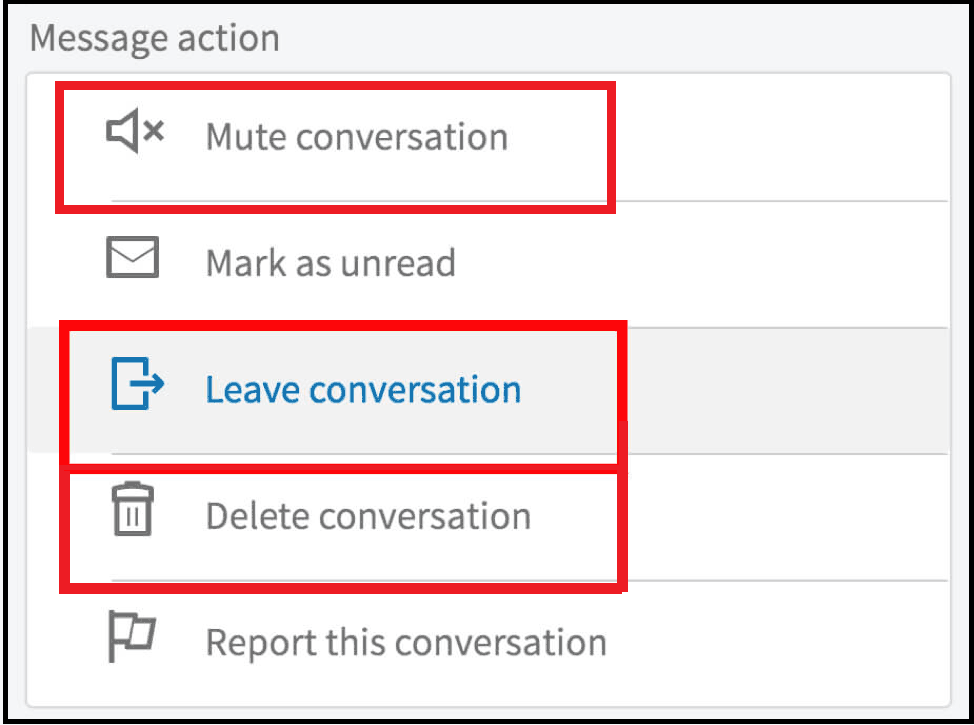 Leaving, Deleting, And Muting Group Conversations
