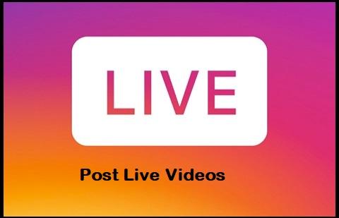Post Live Videos