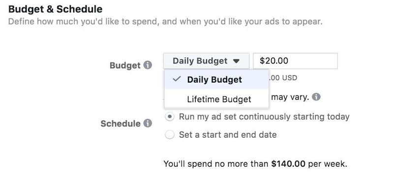 Set The Budget Of Your Facebook Ads