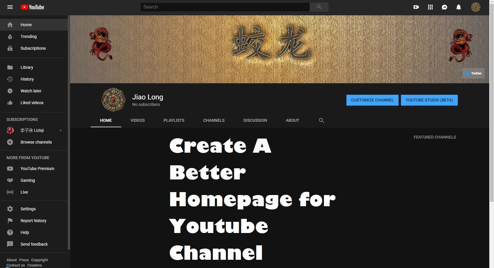 Create A Better Homepage