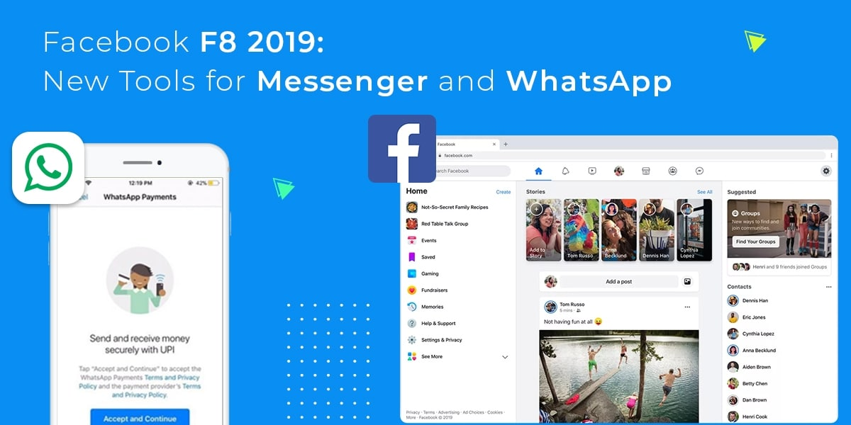 Facebook F8 2019 New Tools for Messenger and WhatsApp