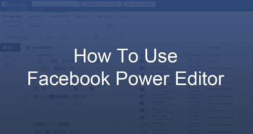 How to use power editor tool