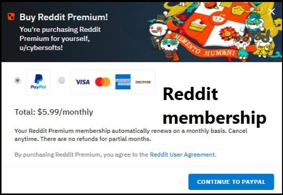 Reddit membership
