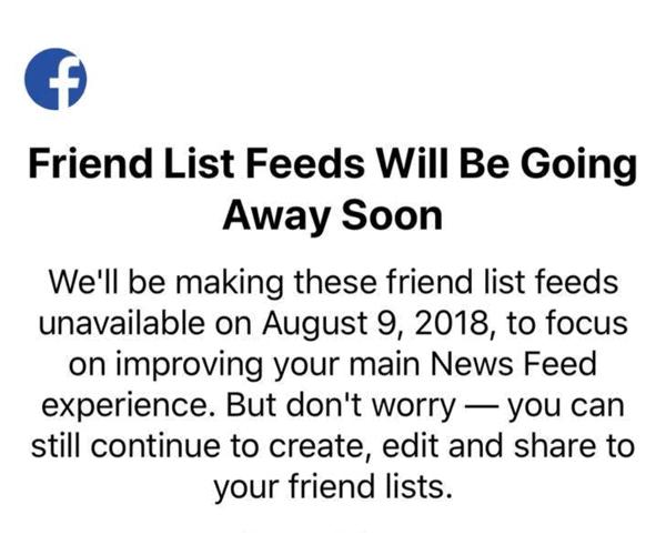 Facebook Shuts Down Friend List