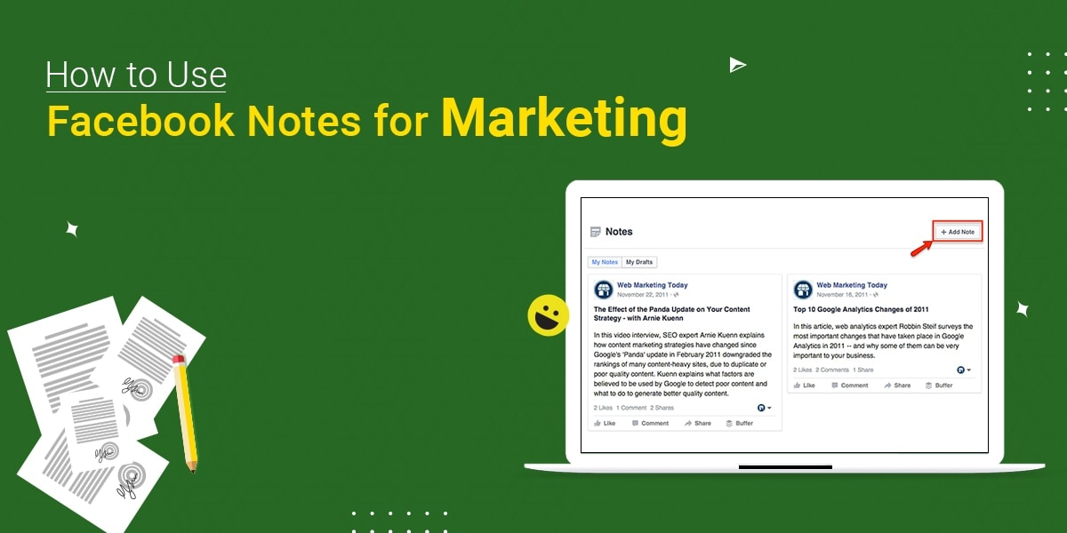 facebook notes for marketing