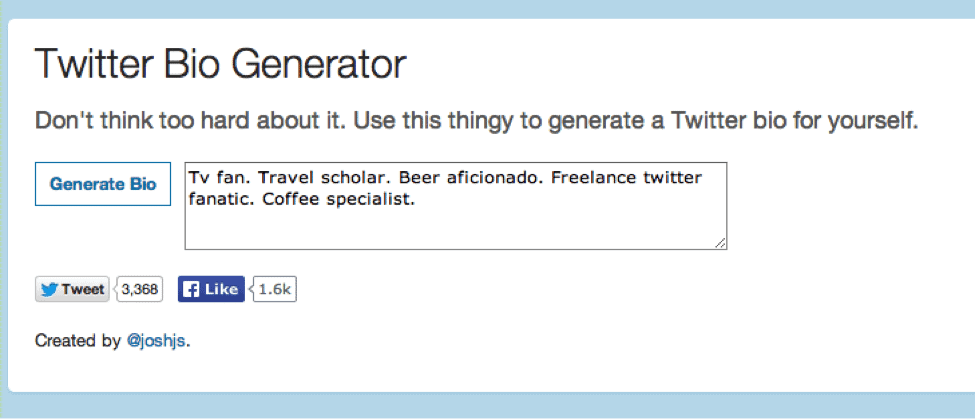 An Introduction To Twitter Bio