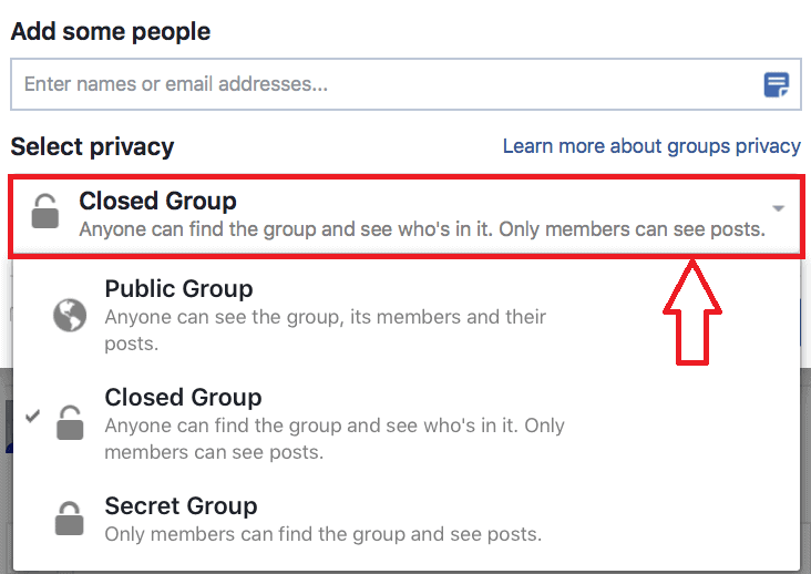 Closed Facebook Groups
