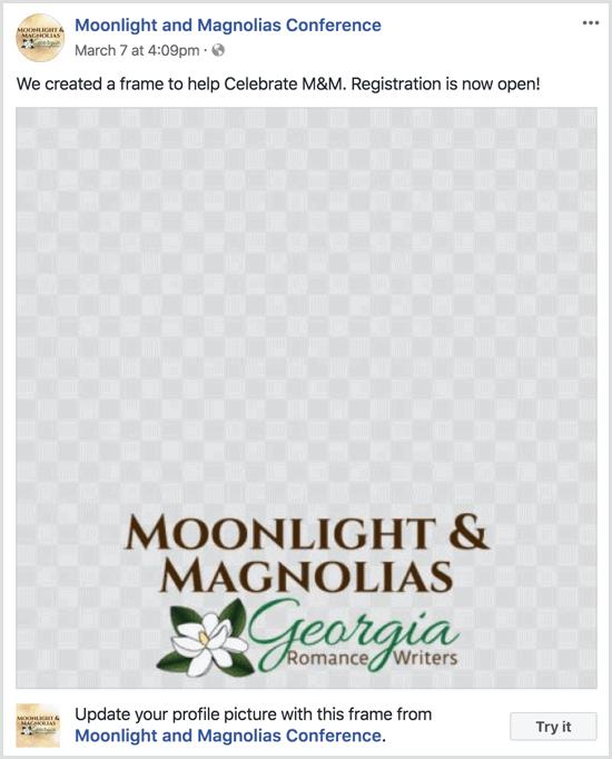 Facebook event frame