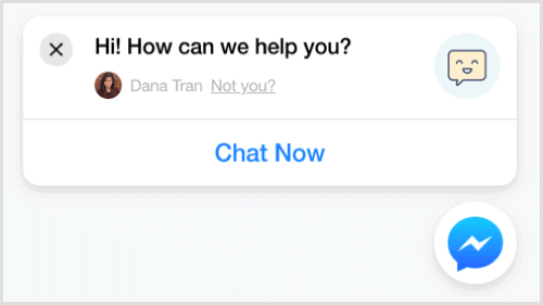 Messenger's Customer Chat Feature