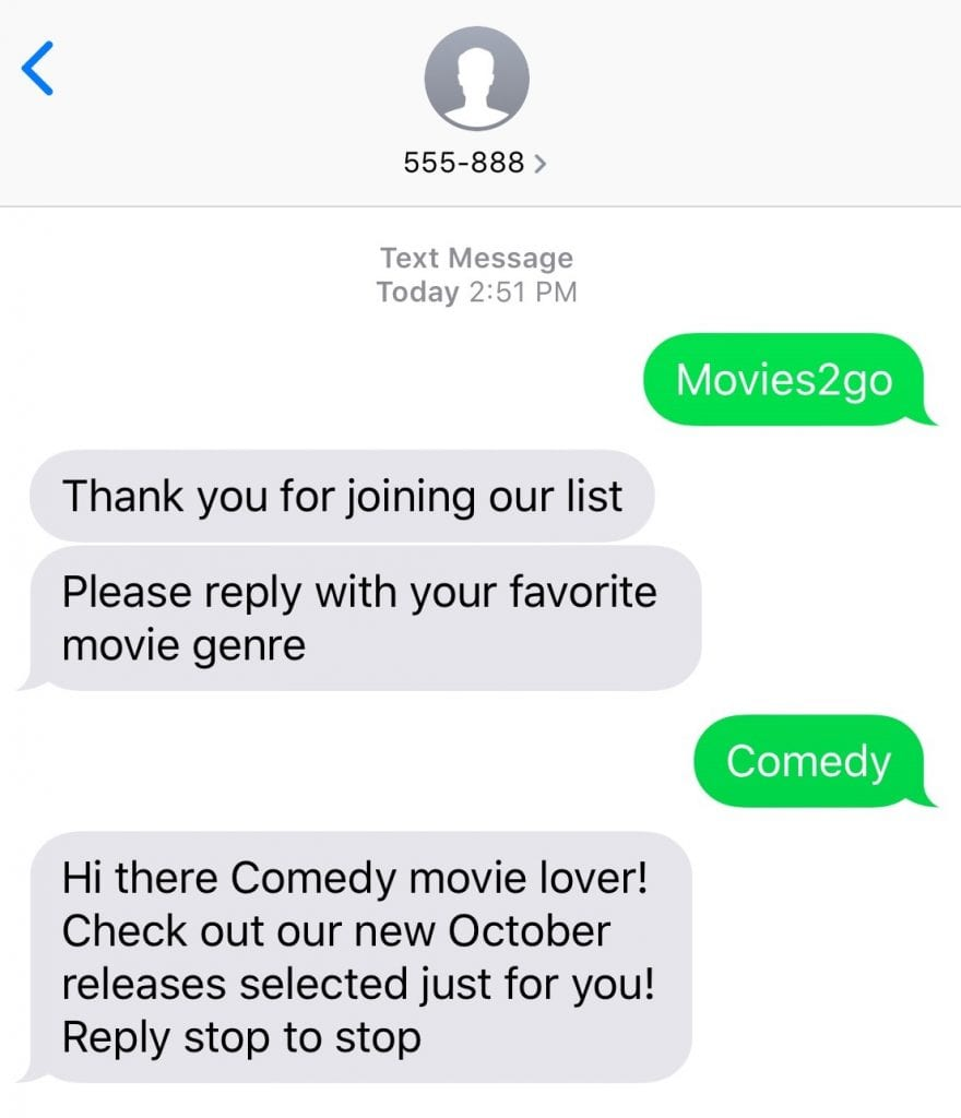 Personalize your Text Message