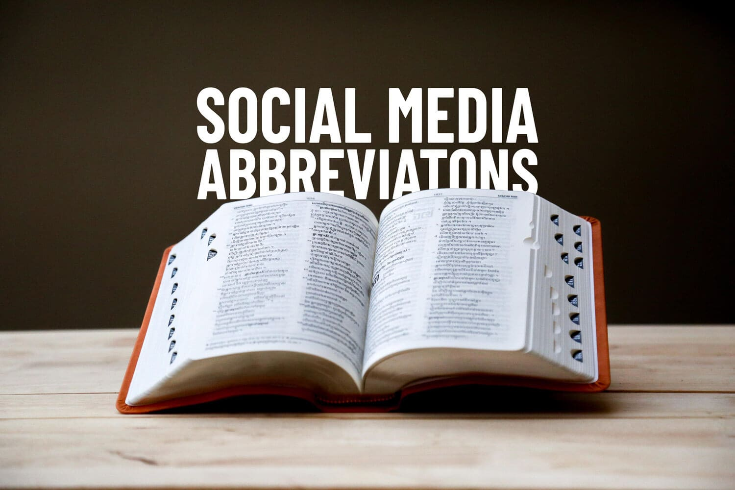 Social Media Acronyms and Abbreviations