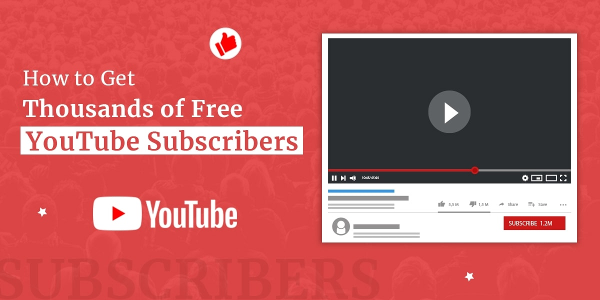 thousands of free youtube subscribers