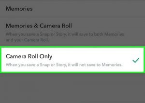 Camera Roll only