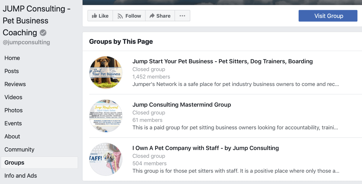 Don't Forget Your Facebook Business Group