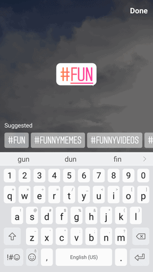 Hashtag Stickers