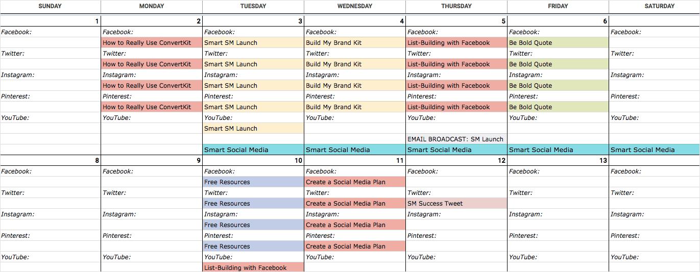 Have A Social Media Content Calendar