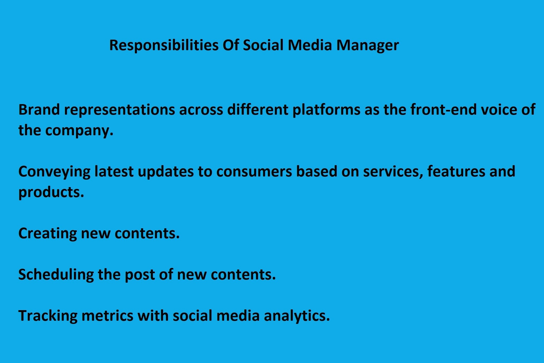 Responsibilities Of Social Media Manager