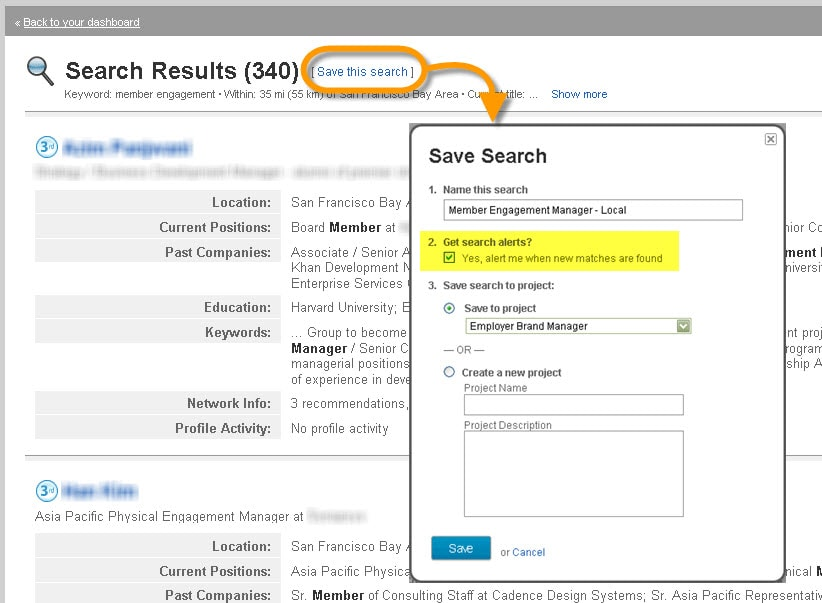 Search Alert for Recruiters