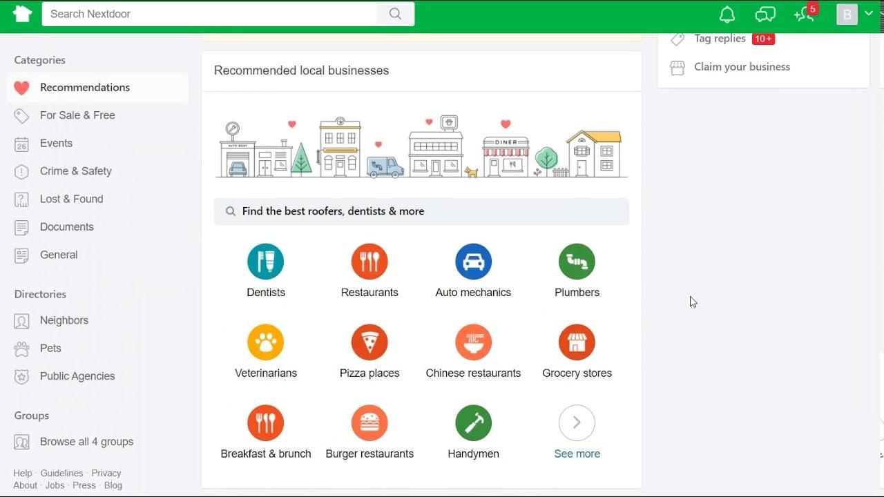 Add your Business to Nextdoor app