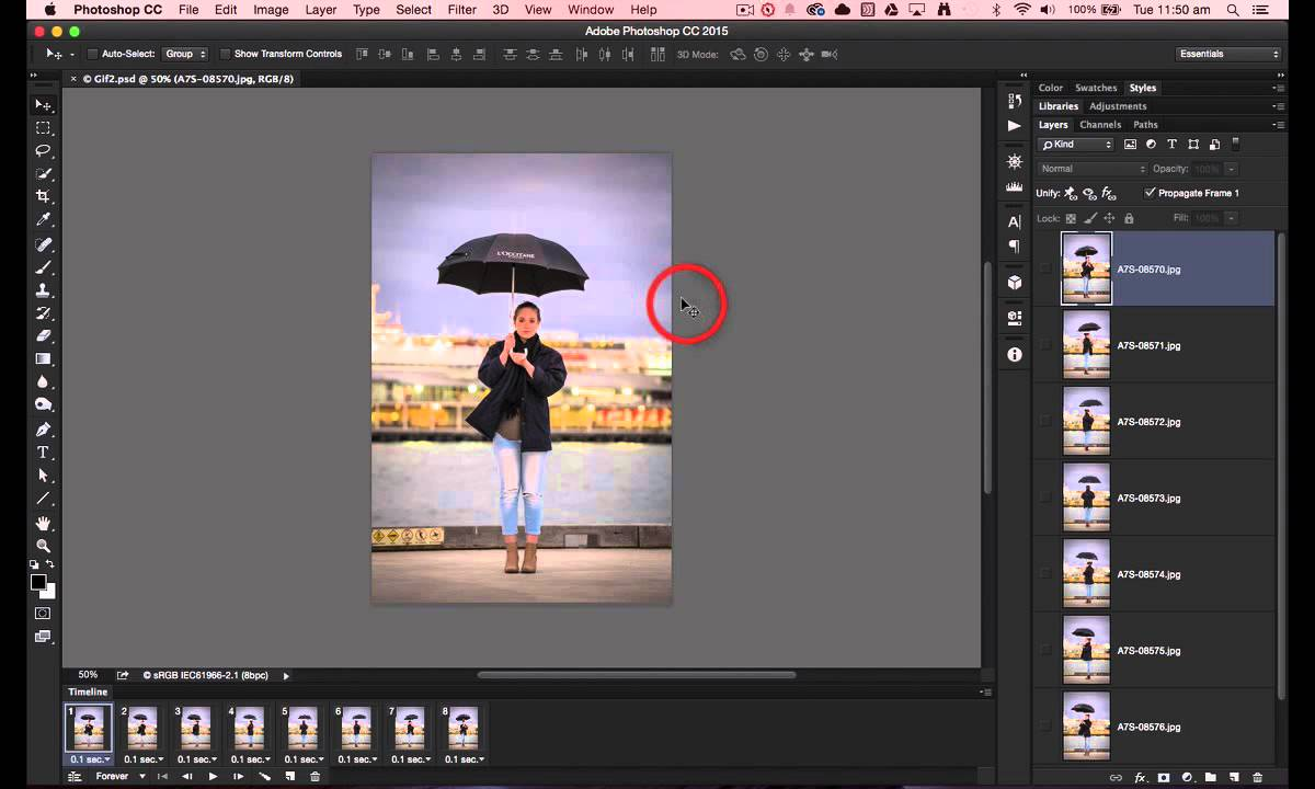 Creating GIF With Photoshop: