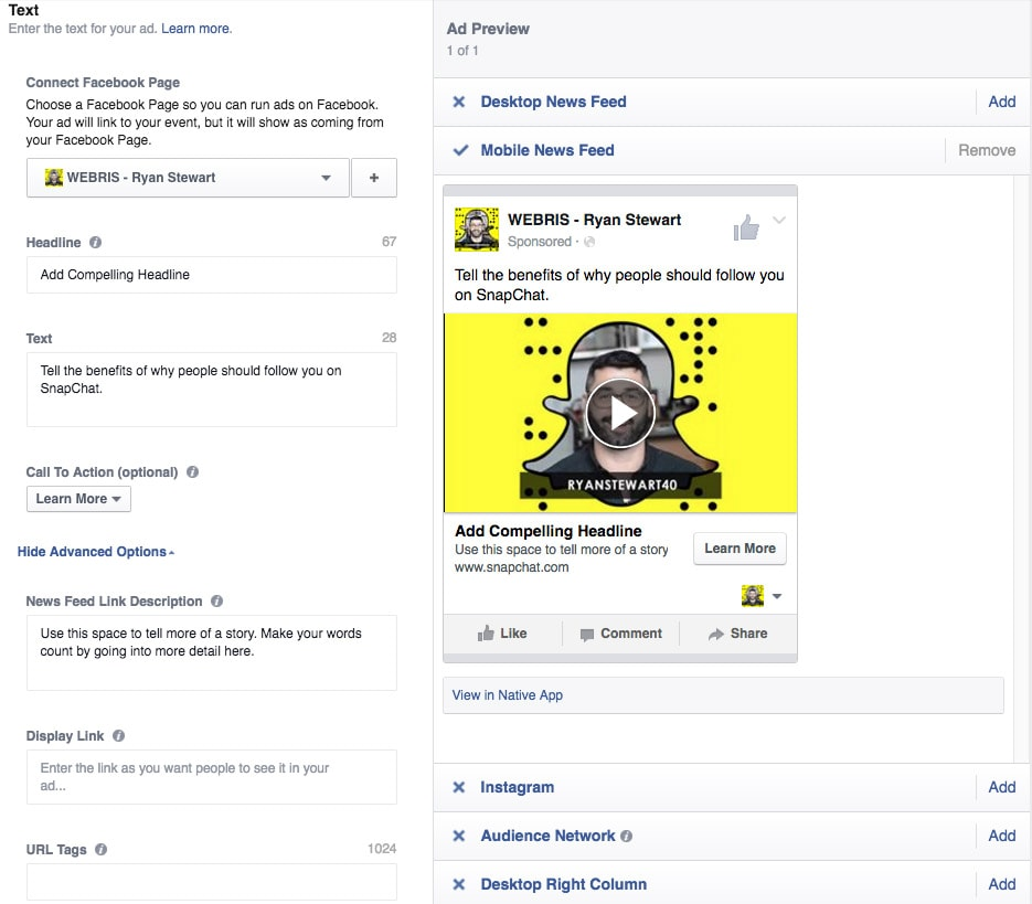 Promote Snapchat Profile