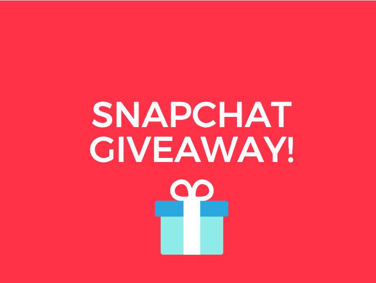 Snapchat Giveaway