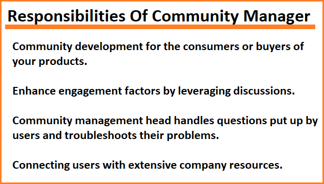 Responsibilities Of Community Manager