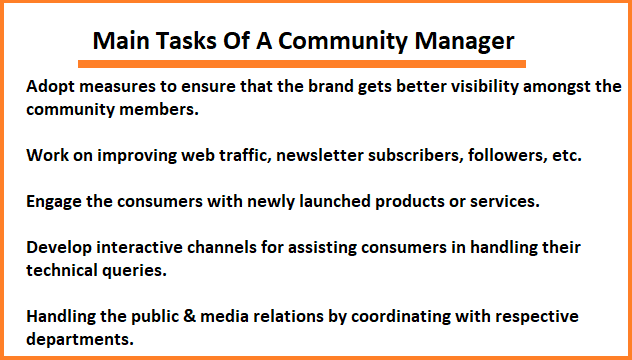 Main Tasks Of A Community Manager
