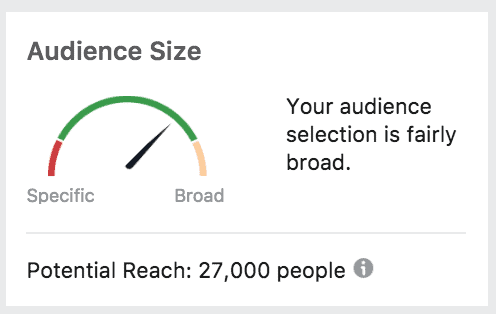 audience size